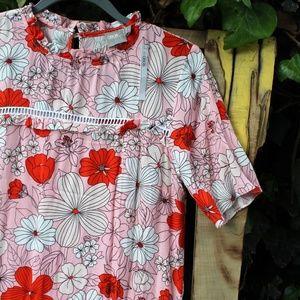 Asos NWT pink short sleeve spring sheath dress